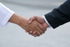 Arab businessmen worker handshaking Stock Images