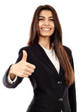 Arab businesswoman with thumbs up Stock Photos
