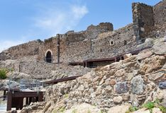 Arab-Byzantine ancient castle Stock Images