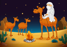 Arab and camel Stock Image