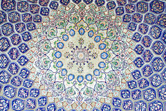 Arab carpet. Background of big decorative Arab pattern carpet Stock Image