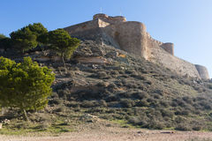 Arab castle.  Chinchilla de Monte-Aragon Stock Photo