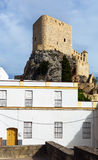 Arab castle at cliff in Olvera Stock Photos