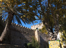Arab castle in the Old Town of Marbella on the Costa Del Sol Andalucia, Spain Stock Image