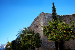 The Arab Castle in the Stylish Town of Marbella on the Costa del Sol Spain Stock Photography