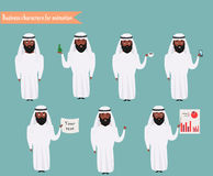 Arab character for scenes. Stock Images