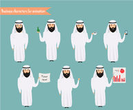 Arab character for scenes. Royalty Free Stock Image