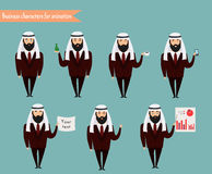 Arab character for scenes. Royalty Free Stock Images