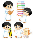 Arab Child. Back to School _ Arab student Royalty Free Stock Photos