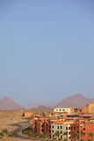 Arab city in the desert. Royalty Free Stock Photography