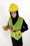 Arab Construction Girl Stock Photography