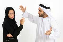 Arab Couple Arguing Royalty Free Stock Images