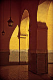Arab courtyard III. Arabic typical entry on a yellow wall Stock Photo