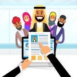 Arab Curriculum Vitae Recruitment Candidate Job Stock Photos