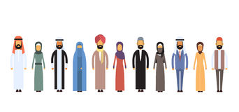 Arab Different People Group Flat Stock Photography