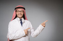 Arab doctor in diversity Stock Photo
