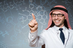 The arab doctor in diversity concept royalty free stock photo