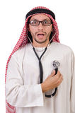 Arab doctor with stethoscope Stock Photo