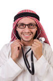 Arab doctor with stethoscope Royalty Free Stock Photography