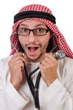 Arab doctor with stethoscope Stock Photos