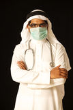 Arab doctor surgeon. A good looking arab doctor surgeon stock photos