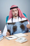 Arab doctor with x-ray Royalty Free Stock Photography