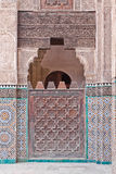 Arab door in the university of Fes (Morocco) Stock Images