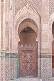 Arab door in the university of Fes (Morocco) Royalty Free Stock Image