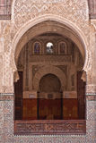 Arab door in the university of Fes (Morocco) Royalty Free Stock Photos