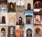 Arab doors and arches Royalty Free Stock Photo