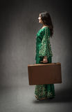 Arab dress and suitcase for travel Stock Photography