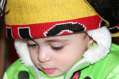 Arab egyptian baby girl Royalty Free Stock Images