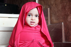 Arab egyptian muslim baby girl Royalty Free Stock Image