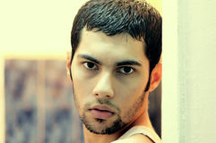 Arab egyptian young man thinking Royalty Free Stock Photos