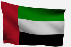 Arab emirates. 3d flag isolated on white background Stock Photo