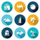 Arab Emirates Icons Set. Vector Illustration Stock Images