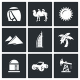 Arab Emirates icons. Vector Illustration. Stock Image