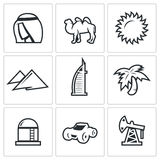 Arab Emirates icons. Vector Illustration. Stock Photo