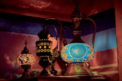 Arab ethnic lamps Aladdin lamp royalty free stock photography