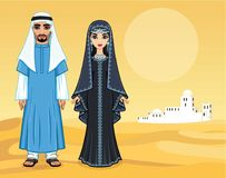 Free Arab Fairy Tale. Animation Portrait Of The Beautiful Arabic Family In Ancient Clothes. Royalty Free Stock Photography - 118233917