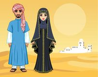Free Arab Fairy Tale. Animation Portrait Of The Beautiful Arabic Family In Ancient Clothes. Royalty Free Stock Images - 118233959