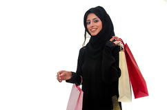 Arab Female Shopping Stock Images