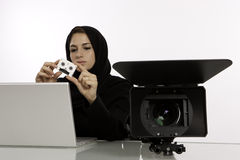 An Arab Female Student Producer Royalty Free Stock Photography