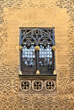 Arab floral wall decoration and window Royalty Free Stock Photo