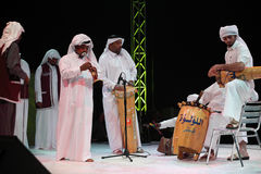 Arab folk troupe Royalty Free Stock Photo