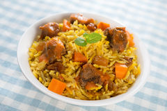 Arab food. Mutton With Rice. Middle eastern cuisine Royalty Free Stock Photo