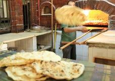Arab food. Arab naan made in a restaurant in Jordan Royalty Free Stock Photography