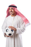 Arab in football concept. On white Stock Image