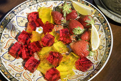 Arab fruit jelly Stock Images