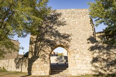 Arab gate of the city wall at Medinaceli town. The Arab gate of the city wall at Medinaceli town, province of Soria, Spain Stock Photo